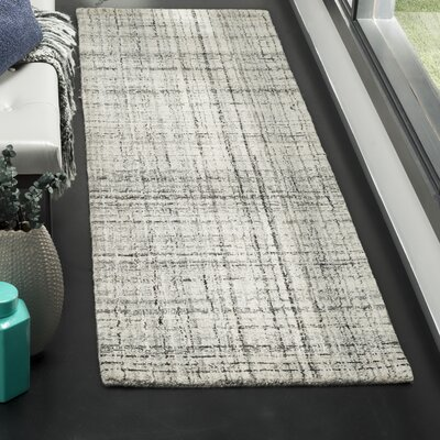Dustin Hand-Tufted Gray Area Rug Rug Size: Runner 23 x 8