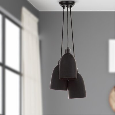 Trappe Shade 3-Light Cluster Pendant