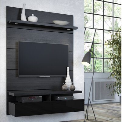 Julius Entertainment Center Color: Black Gloss / Black Matte