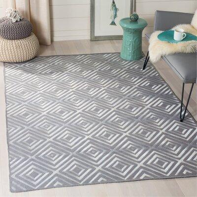 Kilim Hand-Woven Gray Area Rug Rug Size: Rectangle 5 x 8