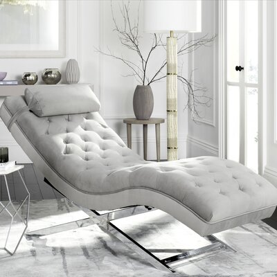 Mulder Chaise Lounge Upholstery: Grey / Silver