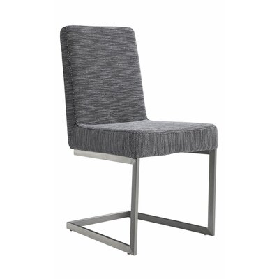 Justice Upholstered Side Chair Color: Gray