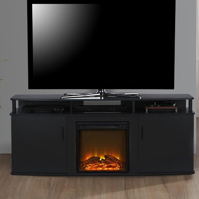 Elian 63 TV Stand with Fireplace Color: Black