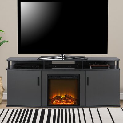 Elian 63 TV Stand with Fireplace Color: Gray