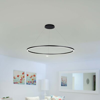 Cherryford 1-Light Geometric Pendant Finish: Black, Size: 120.6