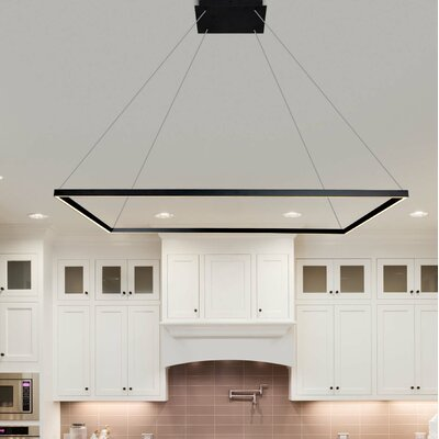 Cherrybrook 1-Light Geometric Pendant Finish: Black, Size: 119.1 H x 51.2 W x 51.2 D