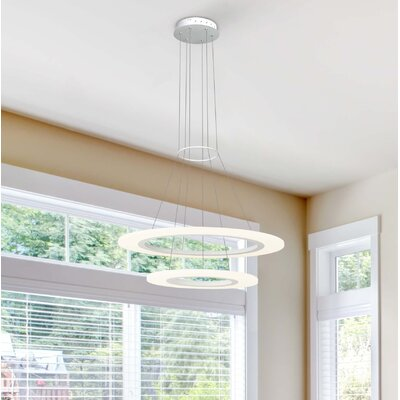 Marcelo Duo 3-Light LED Geometric Pendant Finish: White