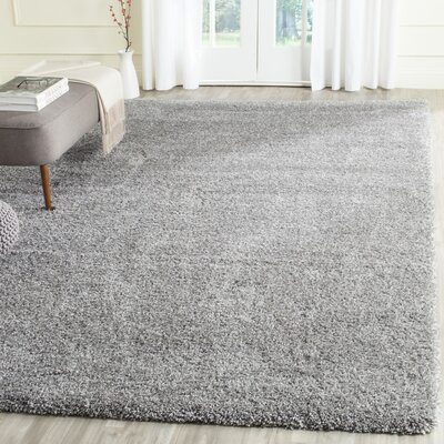 Jonathan Shag Silver Area Rug Rug Size: Rectangle 53 x 76