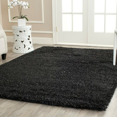 Rowen Black Area Rug Rug Size: Rectangle 4' x 6'