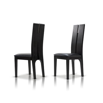 Clower Wood Side Chair Finish: Black Oak