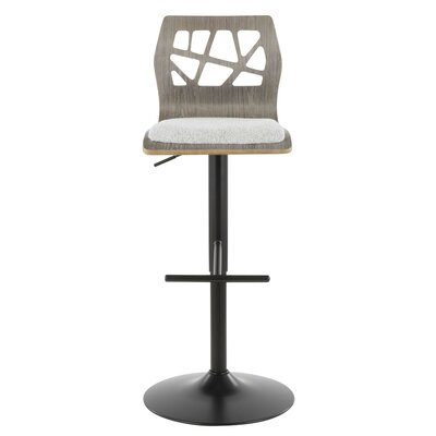 Dallas Swivel Adjustable Height Bar Stool Upholstery: Light Gray