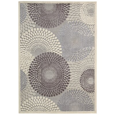 Asa Grey Area Rug Rug Size: Rectangle 53 x 75