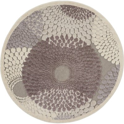 Asa Grey Area Rug Rug Size: Round 4