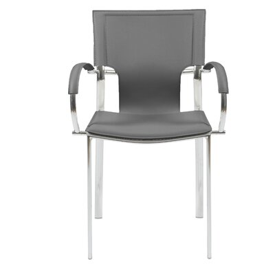 Edmond Arm Chair Upholstery: Gray