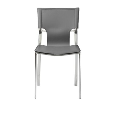 Edmond Side Chair Leather: Gray