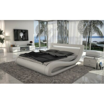 Belafonte Upholstered Platform Bed Size: King, Color: White