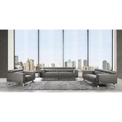 Penny 3 Piece Living Room Set Color: Dark Gray