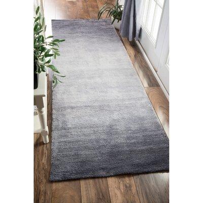 Arboleda Hand-Tufted Gray Area Rug Rug Size: Runner 26 x 10