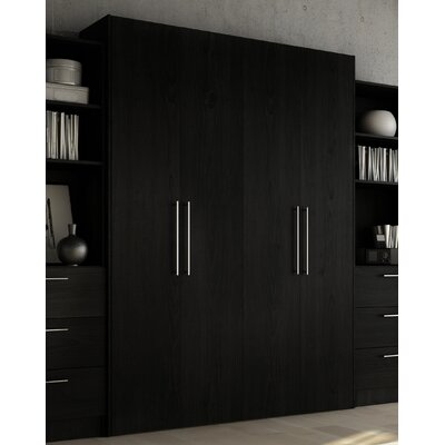 Lower Weston Murphy Bed Size: Full, Color: Black Wood Grain