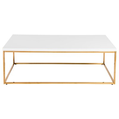 Mccoy Coffee Table Top Color: White/Gold