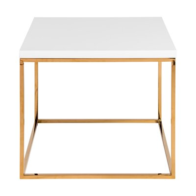 Mccoy End Table Color: White/Gold