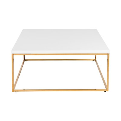 Mia Coffee Table Color: White/Gold