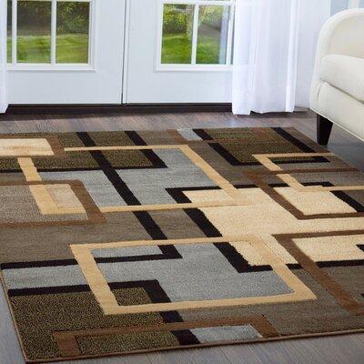 Ezekiel Brown/Gray Area Rug Rug Size: 710 x 106