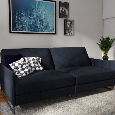 Callion Convertible Sofa Color: Navy