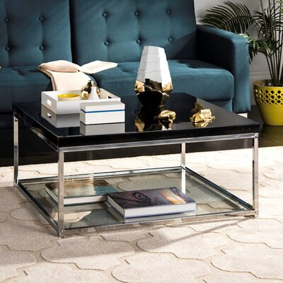Pat Coffee Table Top Color: Black