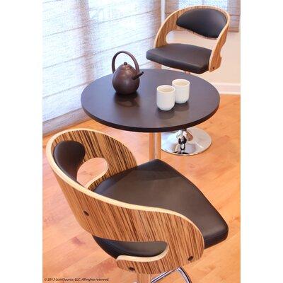 Adjustable Height Swivel Bar Stool Upholstery: Zebra / Brown