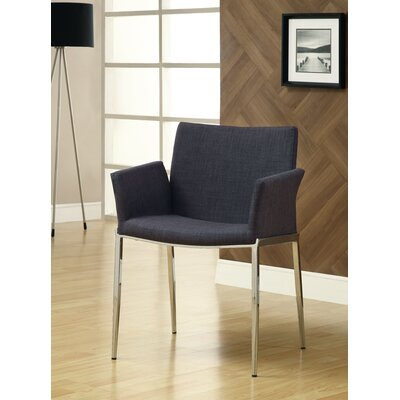 Swanson Upholstered Dining Chair Upholstery Color: Charcoal