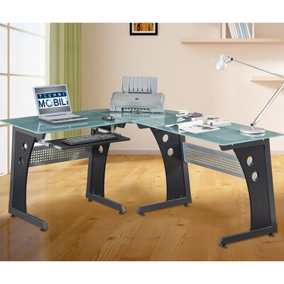 Brookmont L-Shaped Computer Desk with PC Caddy Product Picture 5839