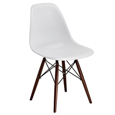 Junia Side Chair (Set of 2) Finish: White/Brown