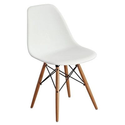 Mohnton Solid Back Side Chair (Set of 2) Finish: White/Natural