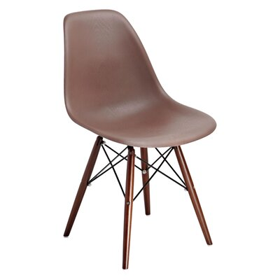 Mohnton Solid Back Side Chair (Set of 2) Finish: Brown/Brown