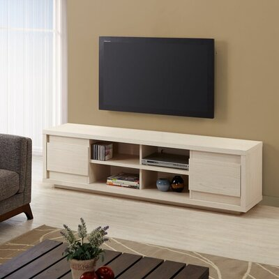 Leetsdale 71 TV Stand Color: Weathered White