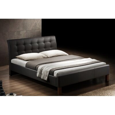 Chandler Upholstered Platform Bed Size: Twin, Color: Dark Brown