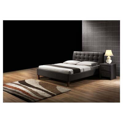 Chandler Upholstered Platform Bed Size: Queen, Color: Dark Brown