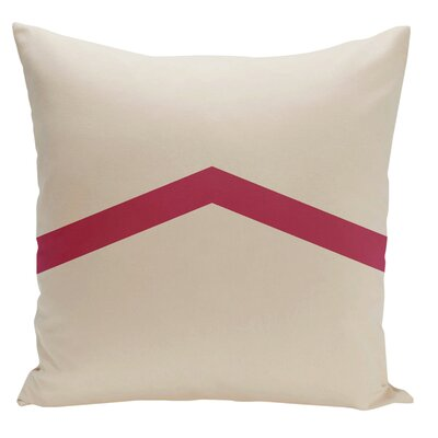 Uselton Throw Pillow Size: 18 H x 18 W, Color: Bisque / Lipstick