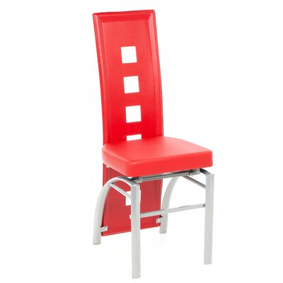 Halladay Side Chair Side Chair Upholstery: Red
