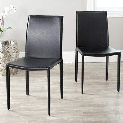 Coralie Side Chair Upholstery: Black