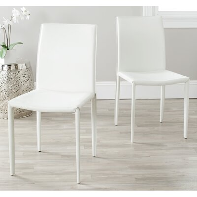 Coralie Side Chair Upholstery: White