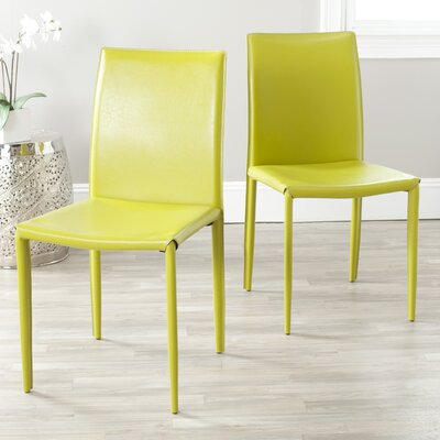 Coralie Side Chair Upholstery: Green