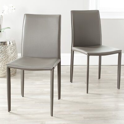 Coralie Side Chair Upholstery: Grey
