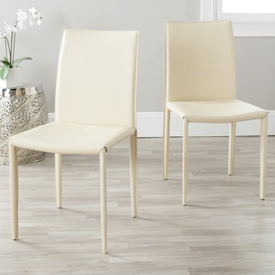 Coralie Side Chair Upholstery: Cream