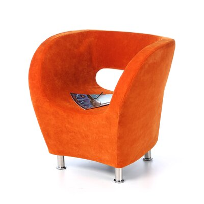 Sarita Barrel Chair Upholstery: Orange