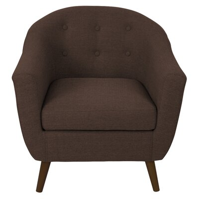 Henley Barrel Chair Color: Espresso