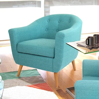 Henley Barrel Chair Upholstery: Teal Green