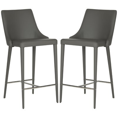 Sherwood 26 Bar Stool Upholstery: Gray