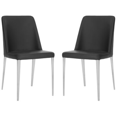 Drummaul Upholstered Dining Chair Color: Black